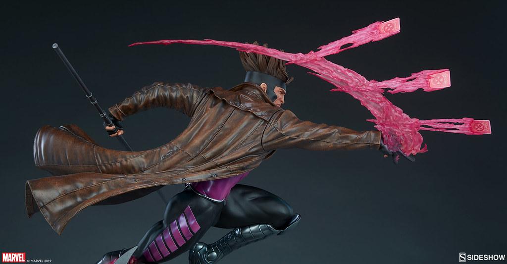 躍動的攻擊姿態再現! Sideshow Collectibles Marvel Comics【金牌手】Gambit 1/4 比例全身雕像 普通版/EX版