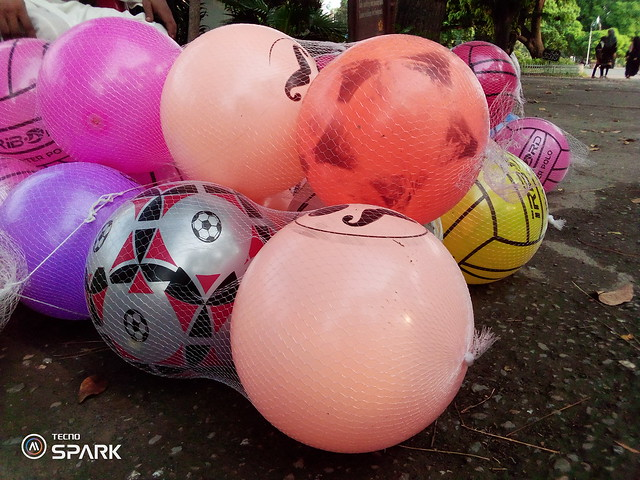 Colored balls mobile photography