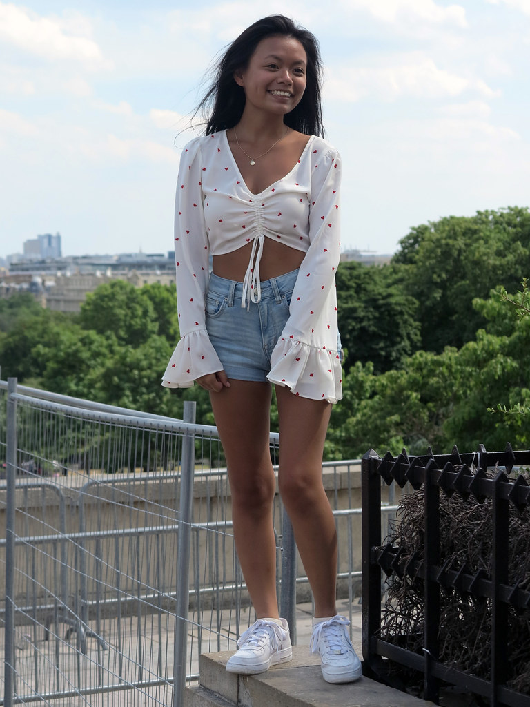 South East Asian Girl In Shorts Jeans And White Top A Photo On Flickriver