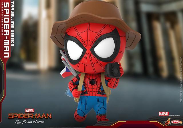 最友善的好鄰居要環遊世界啦~ Hot Toys – COSB672 –《蜘蛛人:離家日》蜘蛛人 (旅行版本) Spider-Man (Travelling Version) Cosbaby Bobble-Head
