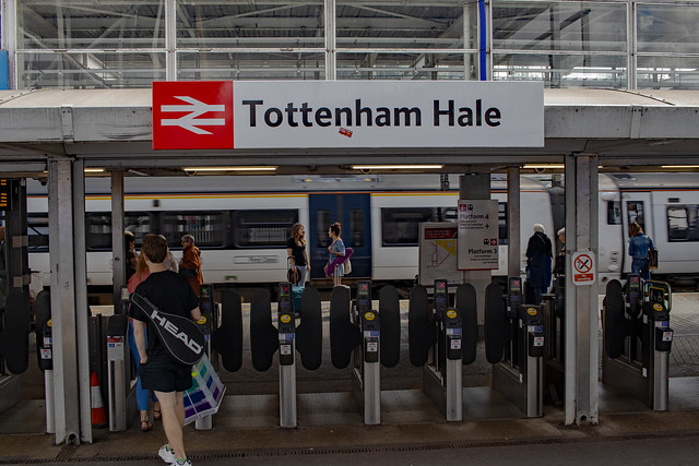 North London Is Red: Tottenham Hale Railway Station London.