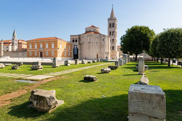 Römisches Forum in der Altstadt von Zadar, Kroatien