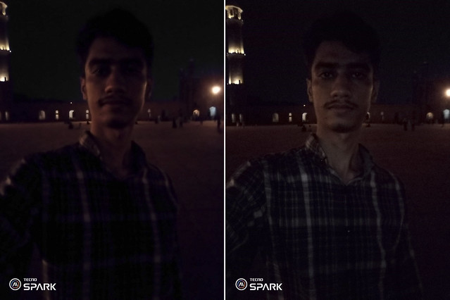 Selfie at night with Tecno Spark Go