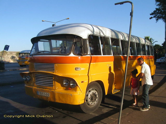 Father shows daughter passing history - 6 days left in contract for Malta Bedford EBY584 27.6.2011