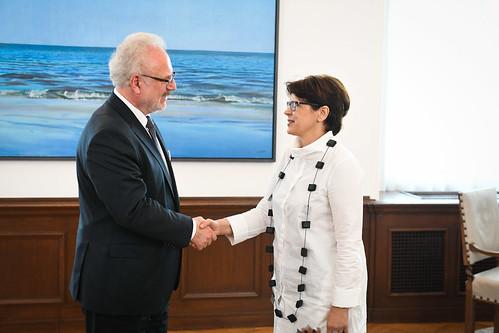 Valsts prezidenta Egila Levita tikšanās ar Latvijas Rektoru padomes pārstāvjiem