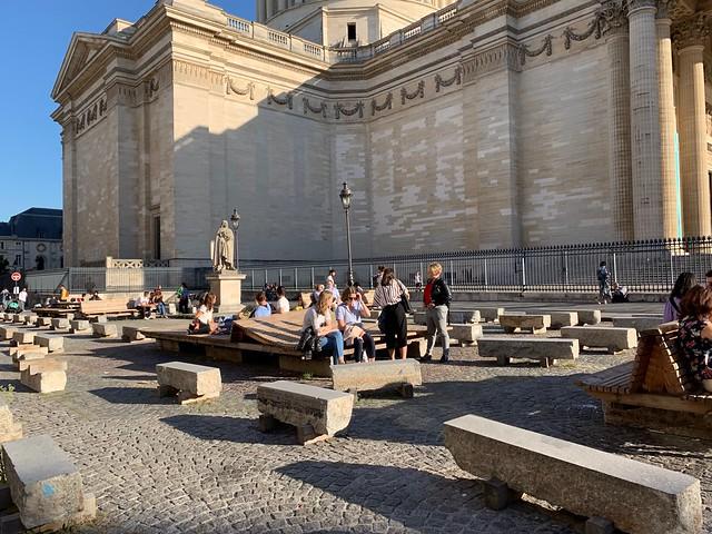 Les bancs du Panthéon