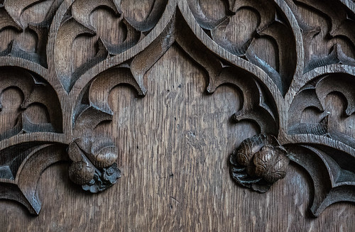 Woodcarving - rood screen detail (1 of 3)