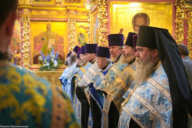Молебен в храме преподобного Сергия Радонежского на Рязанке