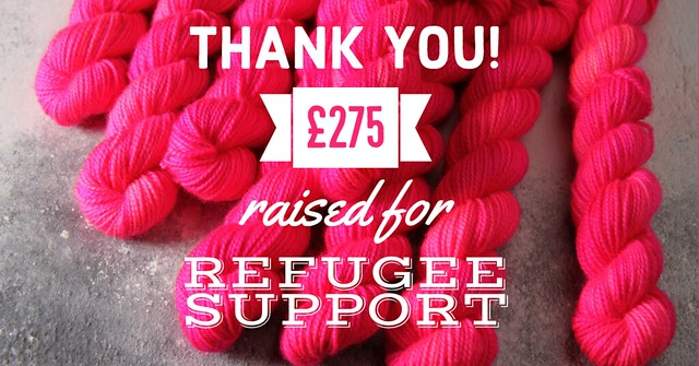 Thank you! £275 raised for Refugee Support