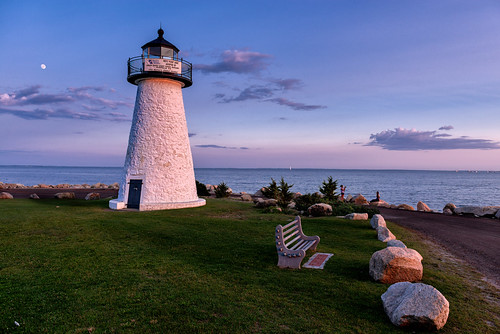 mattapoisett massachusetts unitedstatesofamerica newengland light lighthouse sunset twilight bluehour goldenhour nikon d800e