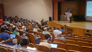 GUADEC 2019 audience from behind