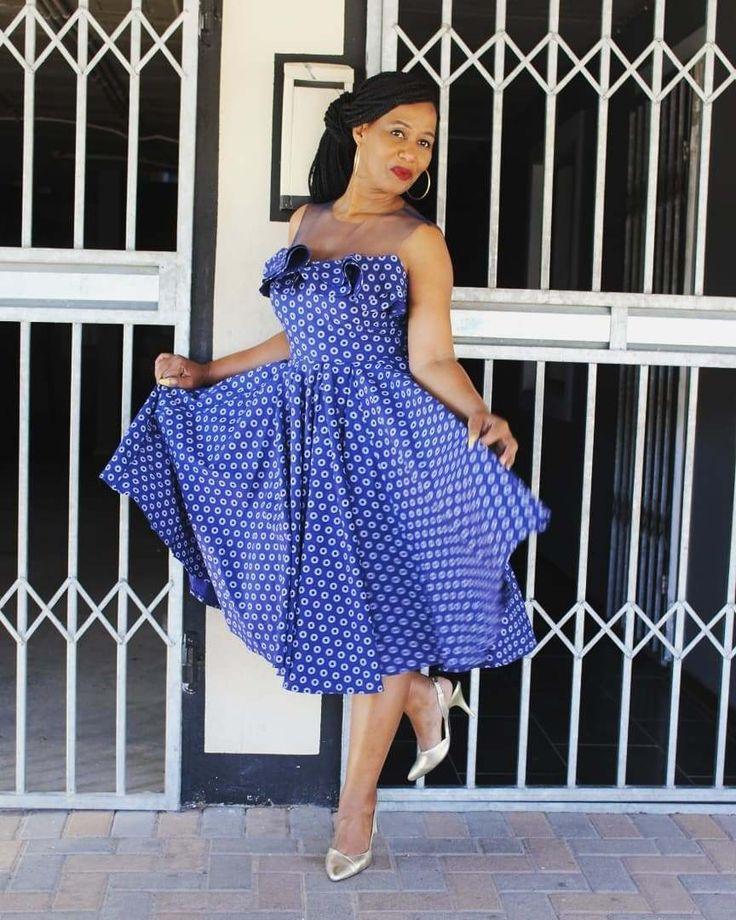 Latest Shweshwe styles Cocktail dress