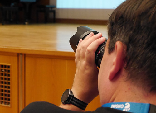 Photographer at GUADEC 2019