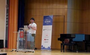 Christian Hergert during GUADEC 2019 presentation