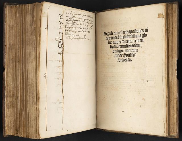 Title-page of Innocentius VIII, Pont. Max.: Regulae cancellariae apostolicae
