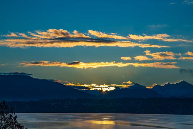 Sunrise at Lake Leman