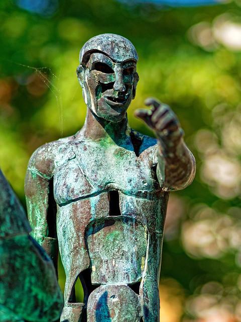 A Figure (Four Horsemen of the Apocalypse Sculpture) Bruges (Olympus OM-D EM1.2 & M.Zuiko 75mm f1.8 Prime) DxO Edited
