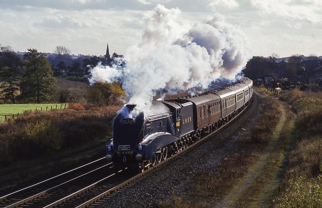 4468 'Mallard' At Duffield. 08/11/1986.
