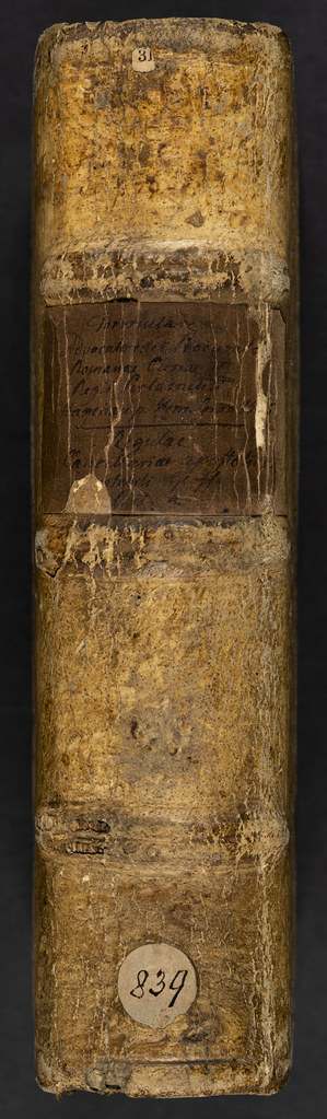 Spine of binding of Innocentius VIII, Pont. Max.: Regulae cancellariae apostolicae