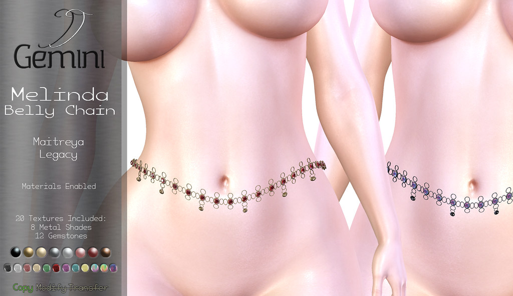 •Gemini -Melinda Belly Chain- @ Vanity Event• - TeleportHub.com Live!