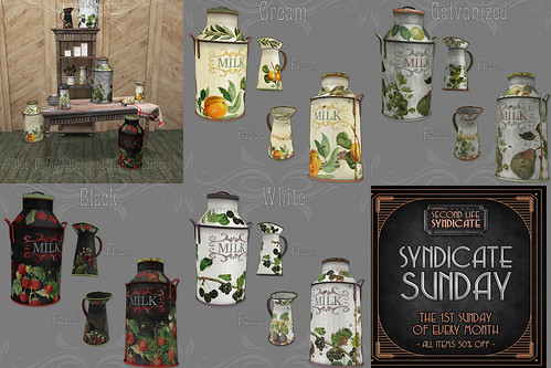 *pm* Olde Tyme Kitchen Milk Containers poster