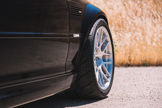 "BMW E46 M3 with 18"" ARC-8R Forged Wheels in Brushed Clear 