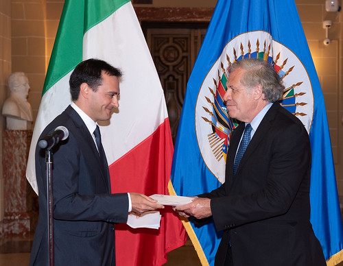 New Permanent Observer of Italy to the OAS Presents Credentials