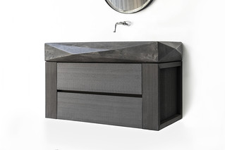 The Diamond Mezzo Dusk Grey Concrete Sink