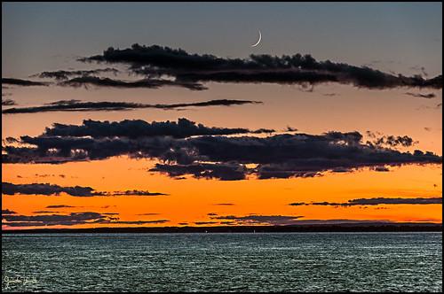 couchersdesoleil lune sunset moon groupenuagesetciel