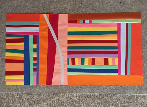 BeeSewcial improv stripes for M-R August