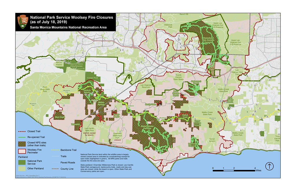 Woolsey Fire Closures | Woolsey Fire closure map (as of July ...