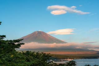 Mt. Fuji at the end of summer
