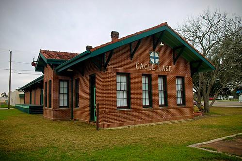 train station railroad depot eaglelake texas