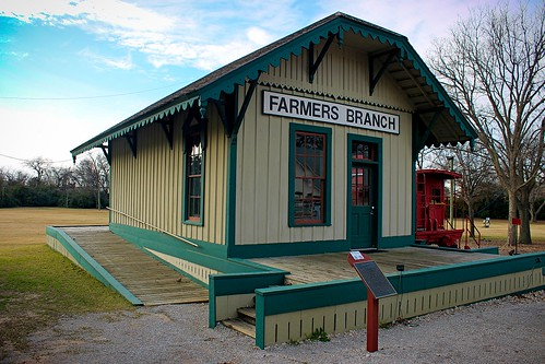 train station railroad depot farmersbranch texas