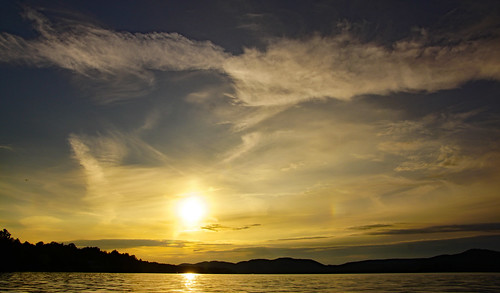 sunset fourthlake cloudscape clouds inletnewyork inletny landscape tamron16300mm
