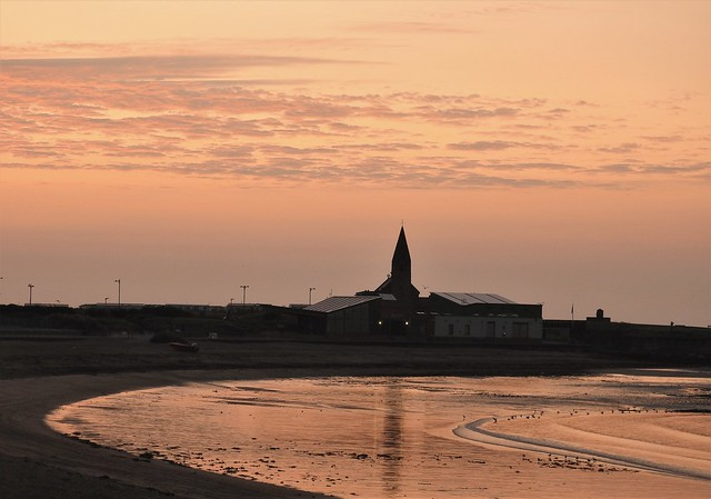 Sunrise Over Newbiggin-By-The-Sea Bay