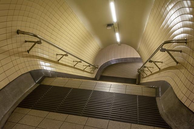 Stairwell in the underground