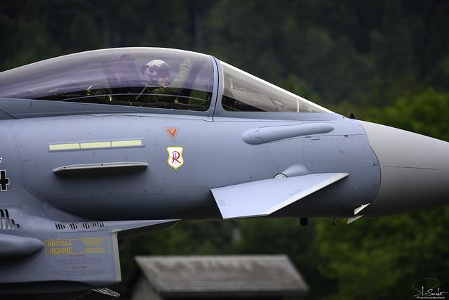 Happy pilot after the landing - Eurofighter Typhoon - Zigermeet 2019 - Mollis - Switzerland