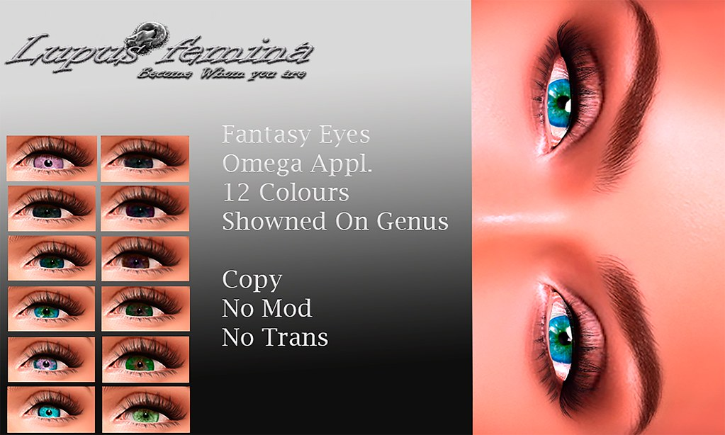 """Lupus Femina"" Fantasy Eyes – Omega Appl."