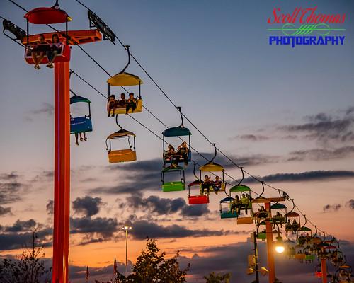 2019 aeriallift broadwayskyliner clouds dusk fairgrounds newyork newyorkstatefair people ride riding sky summer sunset syracuse unitedstatesofamerica nikond750 nikon24120mmf4vr