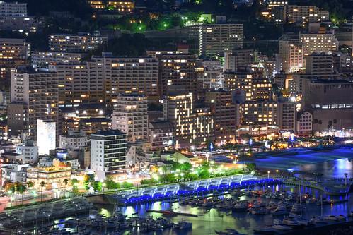 夜景 風景 日本 静岡 熱海 ニコン d850