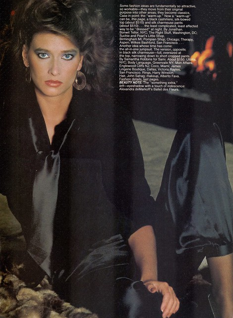Vogue editorial shot by Andrea Blanch 1981
