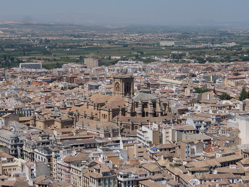 Гранада - Кафедральный собор сверху