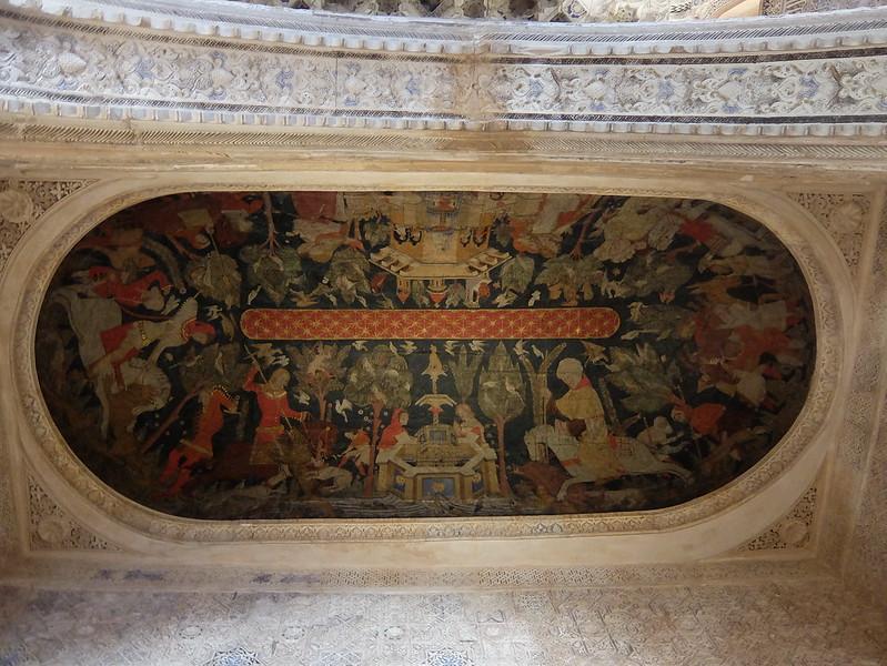 Альгамбра - Дворец Насридов - Роспись в Зале Королей