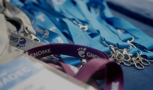 GUADEC 2019 lanyards picture