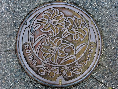 Takamiya Hiroshima, manhole cover 2 (広島県高宮町のマンホール2)