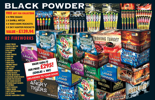 NEW FOR 2019 - BLACK POWDER DIY CONSUMER FIREWORK KIT