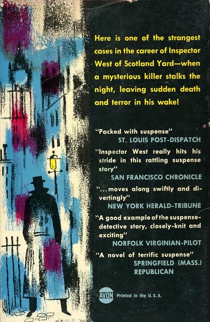 Avon Books 590 - John Creasey - The Figure in the Dusk (back)
