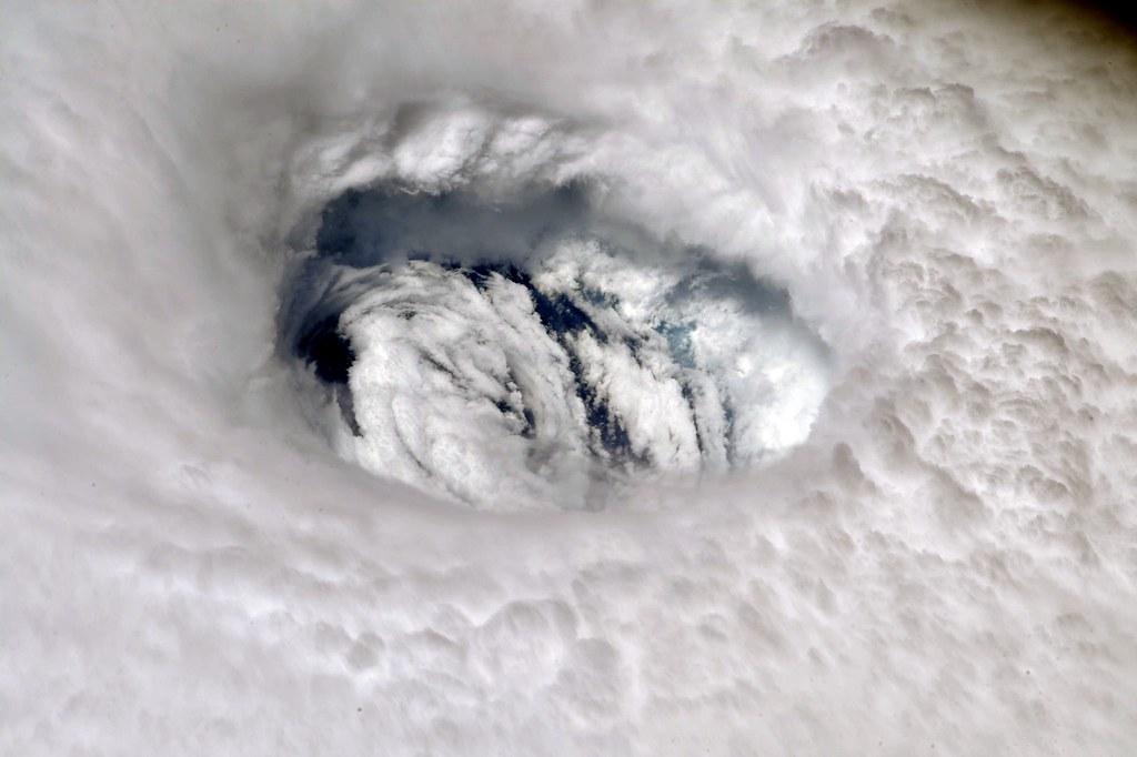 Hurricane Dorian's Eye Seen from the International Space Station