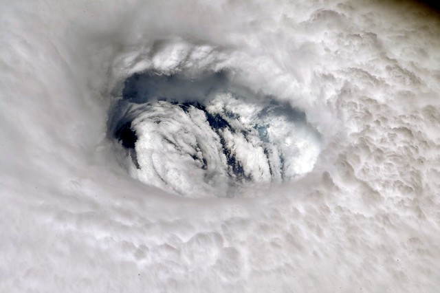 Hurricane Dorian's Eye Seen from the International Space Station